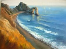 More details for seascape, original oil painting, impressionist style