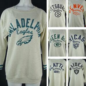 NFL Multi-Team Women's Touch Cream Long Sleeve Crewneck Sweater