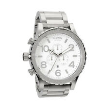 Nixon 51-30 Chrono Chrome Plated White Men's Wrist Watch