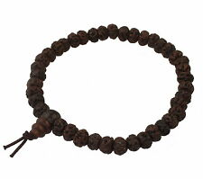 A30 Armband Mala Buddha Bodhi Rudraksha Perlen Nepal Bracelet Gebetskette