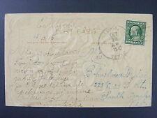Tunis Texas TX Burleson County 1910 4-Bar Cancel DPO 1878-1910 Antique Postcard