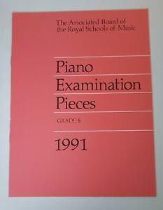 ABRSM Pianoforte Examination Pieces 1991 Grade 6