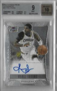 2012-13 Panini Prizm Kyrie Irving Auto RC - BGS 9 Mint - Auto is a 10