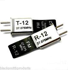 RC Remote Control 27 MHZ 27.075 FM Crystal RX & TX
