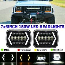 """7x6"""" LED Headlight Headlamp White/Yellow for For Jeep Cherokee XJ YJ Ford GMC"""