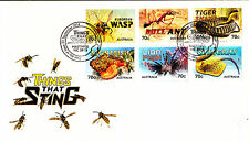 2014 Things That Sting (Gummed Stamps) FDC - Hastings Vic 3915 PMK