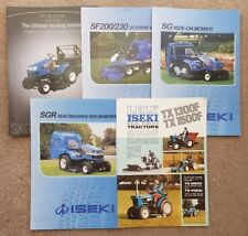 Job Lot of Iseki Tractor Sales brochures x 5
