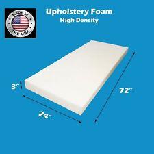 "Upholstery Foam Cushion High Density  size 3"" X 24"" X 72"""