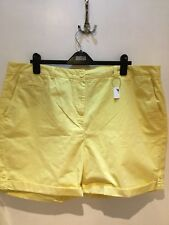 NEW M&S Collection Yellow Cotton Shorts. Size 22UK.