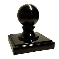 "4"" x 4"" Decorex Hardware Aluminium Ball Top Post Cap for Metal Posts - Black"