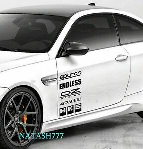 Racing Sponsors Decal Sticker Performance Sport Motorsport Car Truck Emblem 2pcs