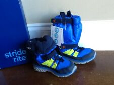 stride rite made 2 play blue winter sneaker boot toddler boy size 9W new in box