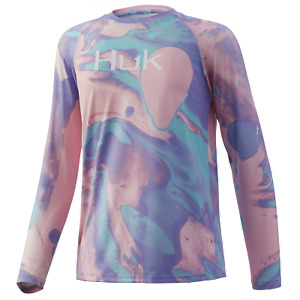 HUK Youth Tie Dye Lava Pursuit - Fishing Shirt -- Pick Color/Size-Free Fast Ship