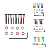 8x Replacement Skateboard Hardware Set Longboard Screws Bolts Nuts Mix color