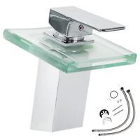 LED Robinet mitigeur lavabo cascade évier salle de bain faucet laiton