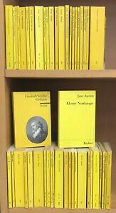 56 Reclam Hefte, u.a. Schiller Shakespeare Kleist Fontane, Konvolut Sammlung