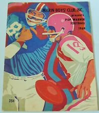 1969 Rare Marin County California Pop Warner Football Program Many photos W/name