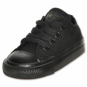 CONVERSE CHUCK TAYLOR ALL BLACK LOW TOP CANVAS FOR BABY AND TODDLERS