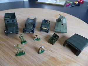 FJ DINKY 822 HALF TRACK JEEP 808 MECCANO Personnages Jouet militaire vintage
