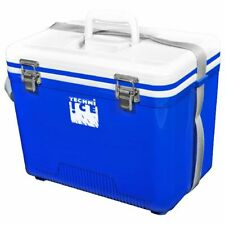 TECHNIICE Compact Series Ice Box 28L- WHITE/BLUE + FREE 3 Reusable Dry Ice Packs