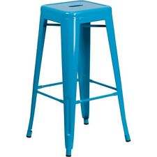 Flash Furniture 30in High Backless Crystal Blue Indoor-Outdoor Barstool NEW