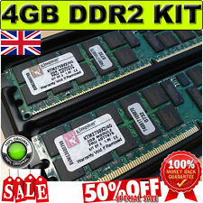 PC2-5300 ECC REG 667MHz DIMM Kingston KTM2759K2/4G IBM FRU 40T7979 4GB DDR2 Kit