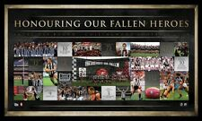 AFL 20 YEARS OF ANZAC RIVALRY COLLINGWOOD OFFICIAL LIMITED EDITION PRINT FRAMED