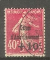 "FRANCE STAMP TIMBRE N° 266 "" CAISSE AMORTISSEMENT SEMEUSE 40c 1931"" OBLITERE TTB"