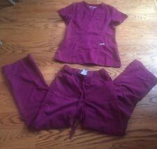 Greys Anatomy Scrub Set XS Burgundy EUC! Very Pretty!!