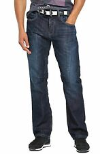 Mens Crosshatch Straight Leg Dark Blue Jeans All Waist Sizes 5 Colours Balti D/w W34- L32