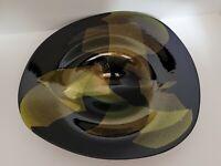 Large Signed Robert Eickholt Dichroic Art Glass Bowl 864