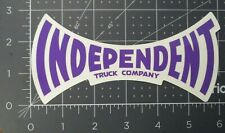 "INDEPENDENT TRUCKS Purple Font 6"" Skateboard STICKER helmets decal"