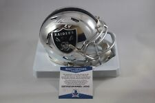 Charles Woodson signed Oakland Raiders Chrome Mini Helmet Beckett