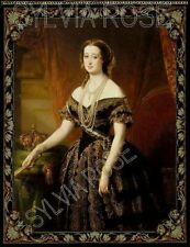 EMPRESS EUGENIE TAPESTRY / WALL HANGING / PANEL - FOR DOLLS HOUSE PICTURE No.779