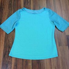 Prana Women's Size Xl 1/2 Sleeve Shirt Top Blouse Blue Quick Dry Hiking Outdoor
