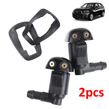 2Pcs Car Front & Rear Windscreen Windshield Washer Wiper Nozzle Window Spray Jet