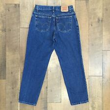 Vintage LEVI'S Women's Classic Relaxed 550 Jeans Red Tab 100% Cotton Sz 10 MIS S