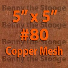 "100% Copper 80 Mesh / 200 Micron Kief / Pollen / Dry Sift Screen 5""x5"""