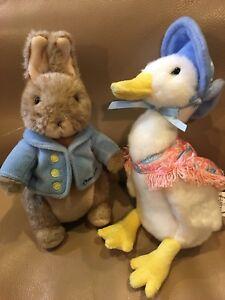 "GUND 8"" PETER RABBIT 75900 JEMIMA PUDDLE Duck 4048909 Beatrix Potter Plush Warne"