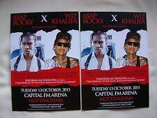 A$AP ROCKY X WIF KHALIFA Live Event 2015 UK Arena Tour Promo tour flyers x 2