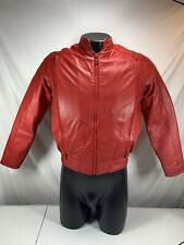Hein Gericke Leather Motorcycle Biker Moto Cafe Racer Jacket Red w Liner Medium