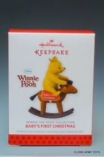 BABY'S FIRST CHRISTMAS WINNIE THE POOH NEW 2013 HALLMARK KEEPSAKE ORNAMENT 1ST