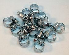 "15 Pcs Stainless Steel Drive Hose Clamps  Worm Clips 3/8""-1/2""(8-12 mm)"