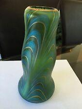 VINTAGE Blue Green Iridescent Vase