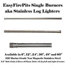 SINGLE 6″ HORIZONTAL BURNER / (316 STAINLESS LOG LIGHTER) – MODEL: B6
