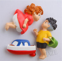 3pcs Studio Ghibli Ponyo on the Cliff Mini Figure Model Toys Kids Refrigerator