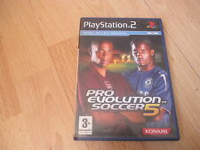 JEU VIDEO SONY PLAYSTATION 2 PS2 PRO EVOLUTION SOCCER 5 +  boite + notice