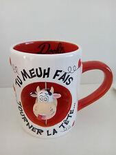 "Neuf mug DOOKIE VACHE ""Tu Meuh"" love tasse amour cadeau humour fête anniversaire"