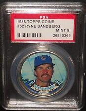 PSA 9 MINT 9 - #52 Ryne Sandberg 1988 Topps Coins Chicago Cubs