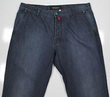 Kiton Dark Wash Cotton-Silk Straight Fit Jeans Pants Men's 36 x 34